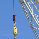 Close up of crane